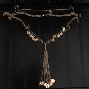 Gold and rose gold multi chained necklace.